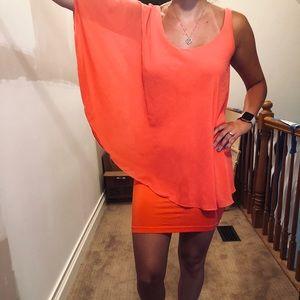 Bebe — Summery coral color dress  🌺